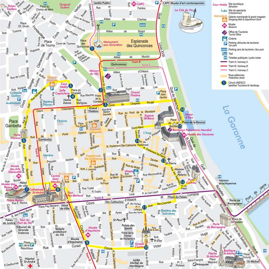 Carte Bordeaux Unesco.Bordeaux Cabadentra Bed And Breakfast Saint Emilion